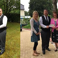 Crematorium donates over £3,000 to two local charities