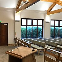 Gedling Crematorium holds first funeral.